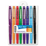 Point Guard Flair Porous Point Stick Pen Assorted Ink Medium Pack of 8 (PAP89061)