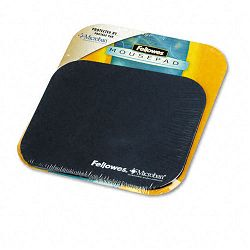 "Mouse Pad with Microban Nonskid Base 9"" x 8"" Navy (FEL5933801)"