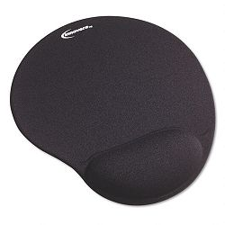 "Mouse Pad with Gel Wrist Pad Nonskid Base 10-38"" x 8-78"" Black (IVR50448)"