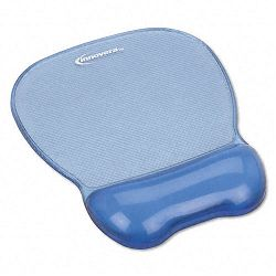 "Gel Mouse Pad with Wrist Rest Nonskid Base 8-14"" x 9-58"" Blue (IVR51430)"
