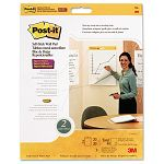 "Self-Stick Wall Easel Pad Blank 20"" x 23"" White 4 20-Sheet PadsCarton (MMM566)"