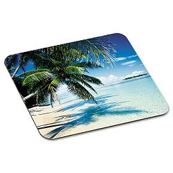 "Scenic Foam Mouse Pad Nonskid Back 9"" x 8"" Tropical Beach Design (MMMMP114YL)"