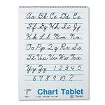"Chart Tablets with Cursive Cover Ruled 24"" x 32"" White 25 SheetsPad (PAC74610)"