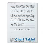 "Chart Tablets with Manuscript Cover Ruled 24"" x 32"" White 25 SheetsPad (PAC74710)"