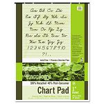 "S.A.V.E Recycled Chart Pads 1in Ruled 24"" x 32"" White 70 Sheets (PAC945610)"