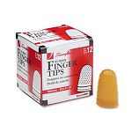 Rubber Finger Tips Size 11 12 Medium Amber Pack of 12 (SWI54035)