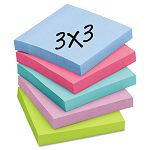 "Super Sticky Pads 3"" x 3"" Five Tropic Breeze Colors 12 90-Sheet PadsPack (MMM65412SST)"