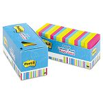 "Notes Cabinet Pack 3"" x 3"" Ast. Bright Colors 100 SheetsPad Pack of 18 (MMM65418BRCP)"