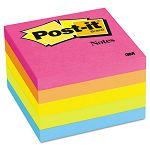 "Original Pads in Neon Colors 3"" x 3"" Five Neon Colors 5 100 Sheet PadsPack (MMM6545PK)"
