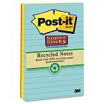 "Farmer's Market Super Sticky Notes Lined 4"" x 6"" 3 90-Sheet PadsPack (MMM6603SSNRP)"