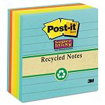 "Farmer's Market Super Sticky Notes Lined 4"" x 4"" 6 90-Sheet PadsPack (MMM6756SSNRP)"