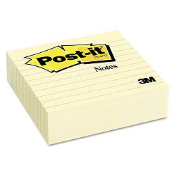 "Original Lined Notes 4"" x 4"" Canary Yellow 300 Sheets (MMM675YL)"