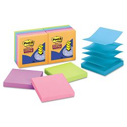 "Pop-Up Notes 3"" x 3"" Electric Glow 10 90-Sheet PadsPack (MMMR33010SSAN)"