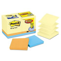 "Bonus Pack Pop-Up Refills 3"" x 3"" Canary YellowAst. 100-Sheet 18Pack (MMMR330144B)"