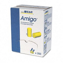 Classic Small Ear Plugs in Pillow Paks PVC Foam Yellow Box of 200 Pairs (MMM3101103)