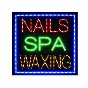 Nails Spa Waxing LED Window Sign (LED-016)