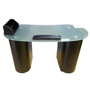 Annika Manicure Table with Frosted Glass Top - Available in 3 colors! (MT702)