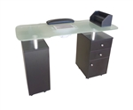 Carina Manicure Table with Vented Glass Top (AN939)