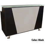 Mikaela Reception Desk with Frosted Glass Top - 5' Wide Available in Black Cherry and Pearwood (PL1119-5FT)