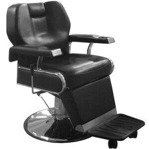 Gunnar Barber Chair Black Upholstery (PL113)