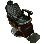 Isak Barber Chair Black Upholstery (PL114)