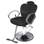 Kerstin All Purpose Reclining Styling Chair with Hydraulic Round Base (APC325)