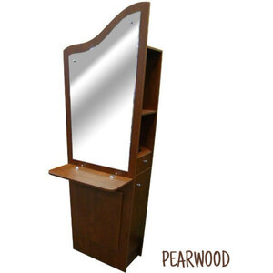 Tindra Single Styling Station - Choice of Black or Cherry or Pearwood (ST1007)