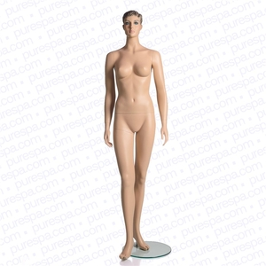 Full Female Mannequin with Sculpted Hair - Skin Color (RPFM-1)