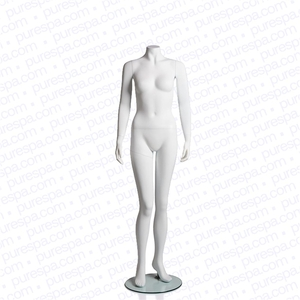 Headless Female Mannequin - Matte White (RPFHL1-W)