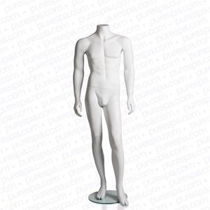 Headless Male Mannequin - Matte White (RPMH1-W)