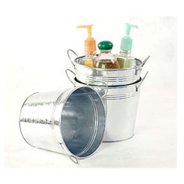 "6.5"" Pail with Side Handles Galvanized (BY08-1)"