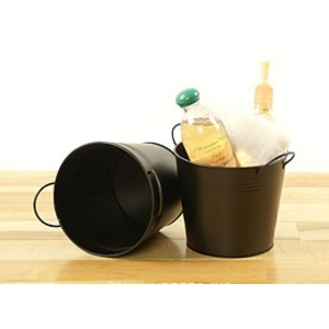 "6.5"" Pail with Side Handles Black (BY08-1BLK )"