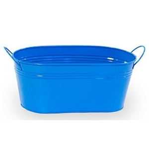 "12"" Royal Painted Oval Tub with Side Handles (BY14-1B)"