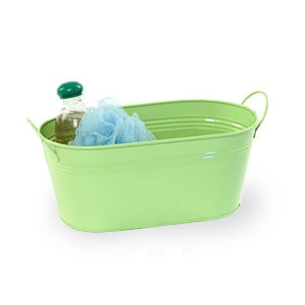 "12"" Lime Painted Oval Tub with Side Handles (BY14-1LG)"