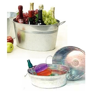 Galvanized Oval Tub with Side Handle ()