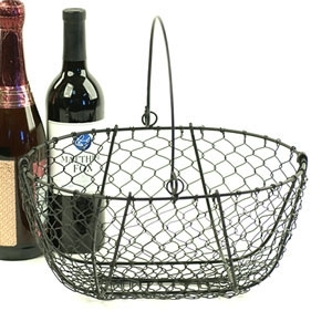 Oval Black Wire Basket (SY222-1BLK)