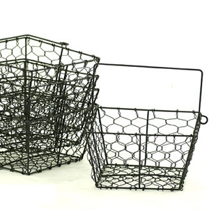 "Square Black 8.5"" Wire Basket (SY220-1BLK)"
