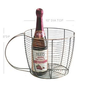 "10"" Chrome Wire Cup Basket (NY41-1LG)"