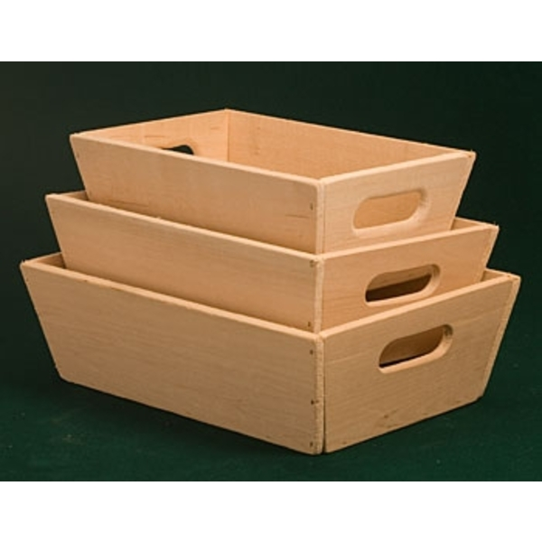 Wooden Tapered Bins Market Trays ()