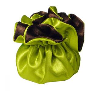 "7"" Reversible Satin Pouches With Cord Drawstrings Neon + Chocolate Case of 72 (HI800-97)"