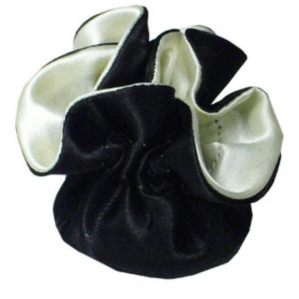 "7"" Reversible Satin Pouches With Cord Drawstrings Black + Ivory Case of 72 (HI800-39)"