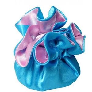 "7"" Reversible Satin Pouches With Cord Drawstrings Country Blue + Light Pink Case of 72 (HI800-35)"