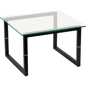 "Glass End Table 23.625"" X 23.625"" by BIGA (FD-END-TBL-GG)"