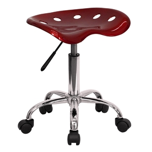 Tractor Stool Wine Red by BIGA (LF-214A-WINERED-GG)