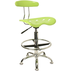 Tractor Stool with Backrest and Footrest Apple Green by BIGA (LF-215-APPLEGREEN-GG)