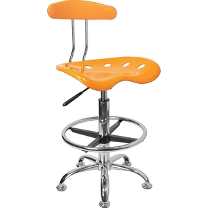 Tractor Stool with Backrest and Footrest Yellow by BIGA (LF-215-YELLOW-GG)