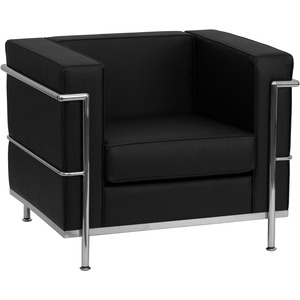 Bre Series Reception Chair Black by BIGA (ZB-REGAL-810-1-CHAIR-BK-GG)