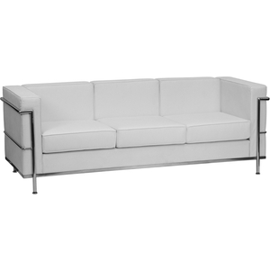 Bre Series Reception Sofa White by BIGA (ZB-BRETTFORD-810-3-SOFA-WH-GG)