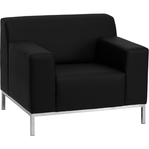 Def Series Reception Chair Black by BIGA (ZB-DEFINITY-8009-CHAIR-BK-GG)