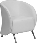 Je Series Reception Chair White by BIGA (ZB-JET-855-WH-GG)